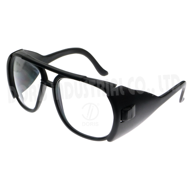 Protective glasses with safety side shields