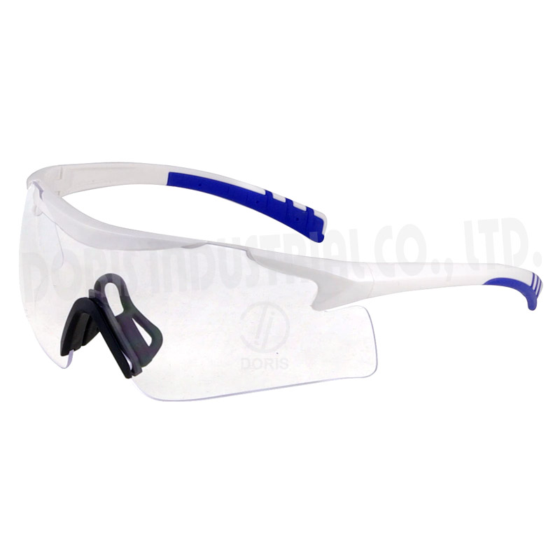 Half frame large coverage prescription safety spectacles