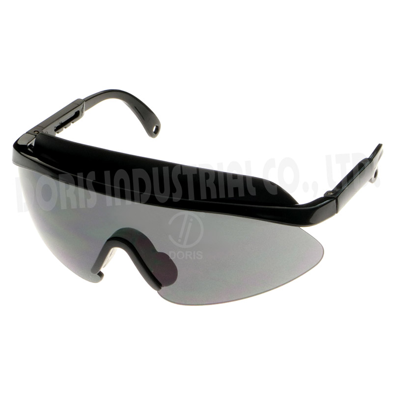 Half frame safety glasses with removable extended brow guard