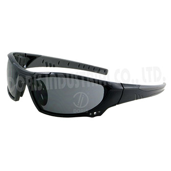 Full frame safety eyewear with vents on frame