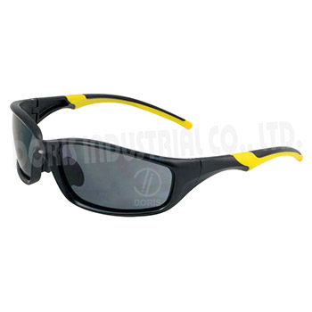 Full frame safety glasses with nylon frame and temple