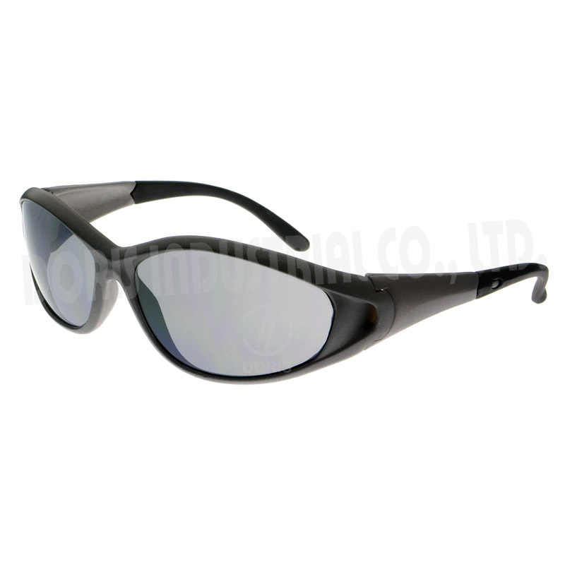 Full frame glasses with rubberised temple/frame