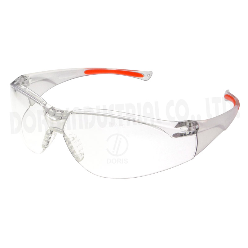One piece wrap around protective eyewears