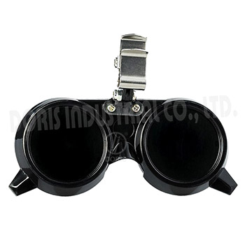 Clip-on gas welding goggles