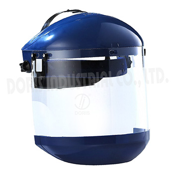 Safety face shield with chin guard