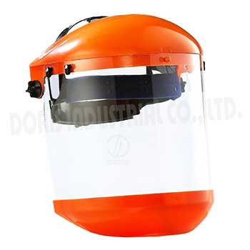 Face shield with chin protector