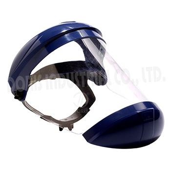 Full face visor with chin guard