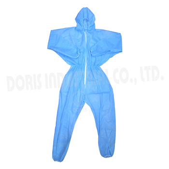 One piece PP non-woven coveralls