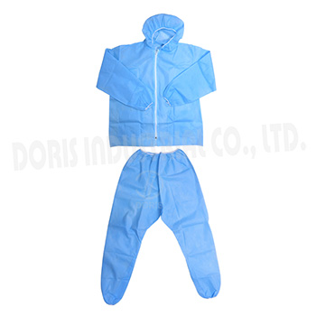 Two piece PP non-woven coveralls